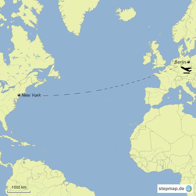 New York Von Michi97 Landkarte Für Deutschland