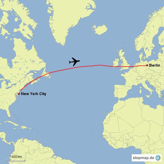 New York Berlin Von Travelfreak Landkarte Für Deutschland