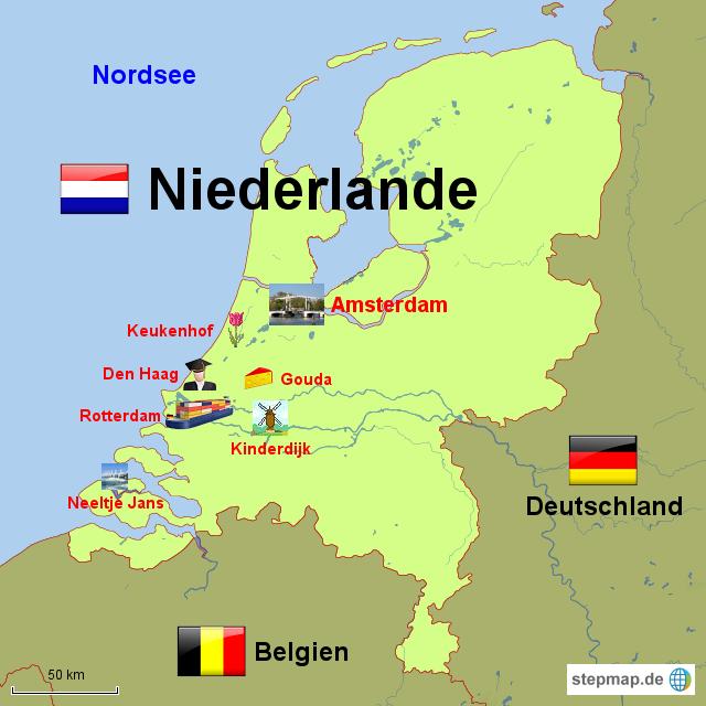 stepmap niederlande landkarte f r niederlande. Black Bedroom Furniture Sets. Home Design Ideas