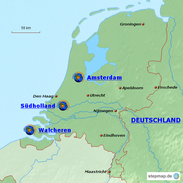 landkarte holland deutschland