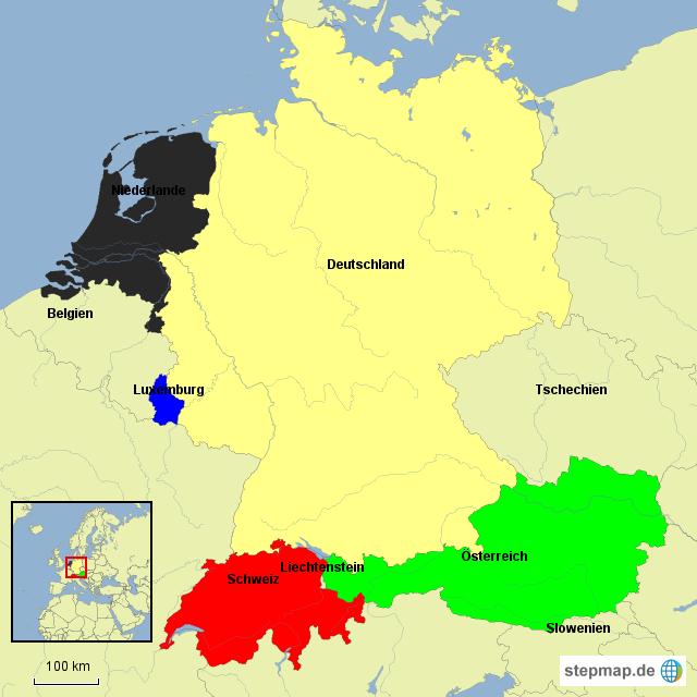 niederlande deutschland von milila landkarte f r deutschland. Black Bedroom Furniture Sets. Home Design Ideas