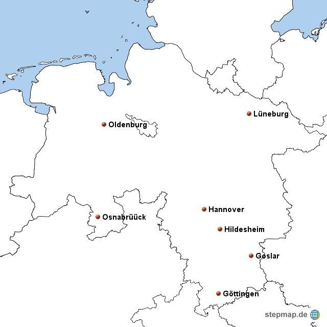 Niedersachsen Kostenlose Karten Kostenlose Stumme Karten Kostenlose Unausgefullt Landkarten Kostenlose Hochauflosende Umrisskarten