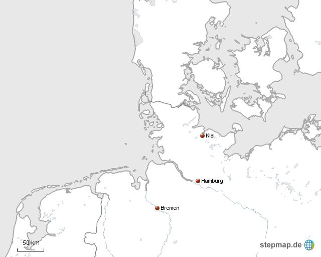 Nord Ostsee Von Mapdesigner64 Landkarte Fur Deutschland