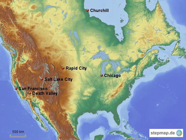 Physische Karte Usa.Nordamerika Physisch Von Tigger7 4teachers Landkarte Fur