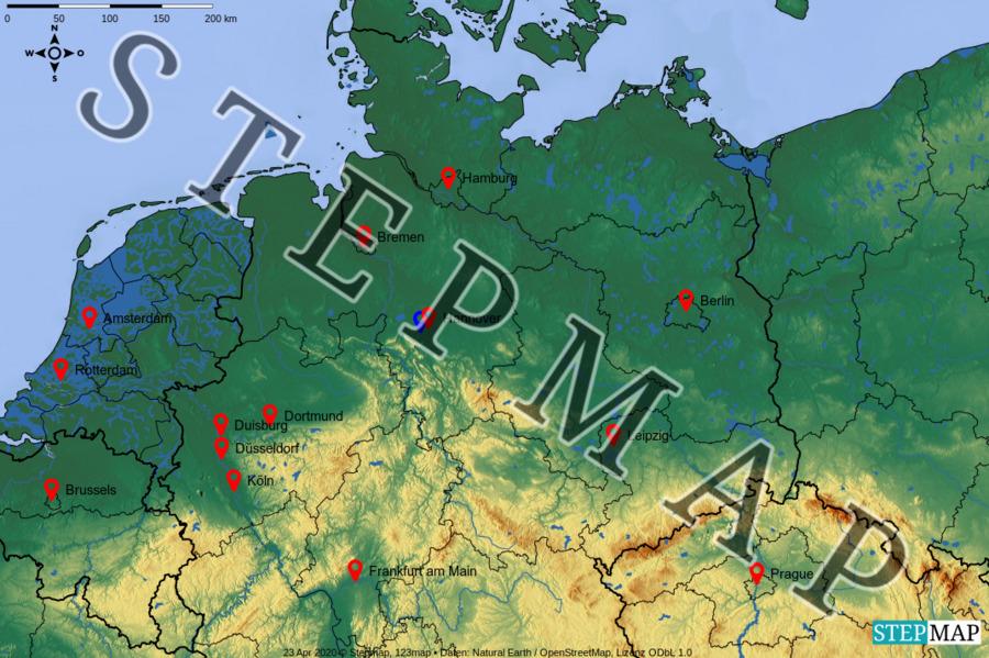 Landkarte Norddeutschland Kostenlos