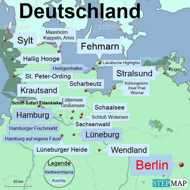 Karte Norddeutschland Inseln.Norddeutschland Kurztrips Blog Von Lpsick Landkarte Für Deutschland