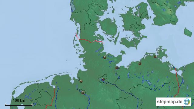 Norddeutschland Städte Karte