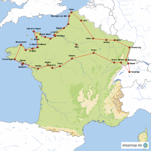Nordfrankreich Karte.Nordfrankreich Karte Goudenelftal