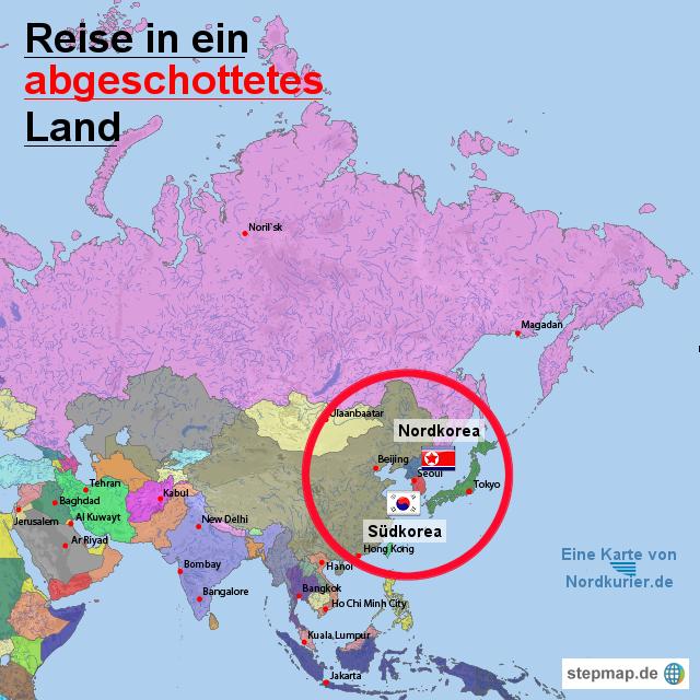 karte nordkorea Landkarte Von Nordkorea | Kleve Landkarte