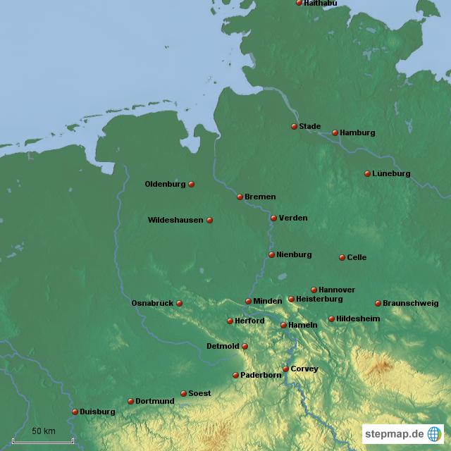 nordwestdeutschland st dte mittelalter von berndmag landkarte f r deutschland. Black Bedroom Furniture Sets. Home Design Ideas