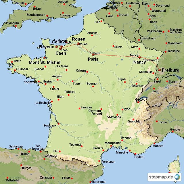 landkarte normandie frankreich kleve landkarte. Black Bedroom Furniture Sets. Home Design Ideas