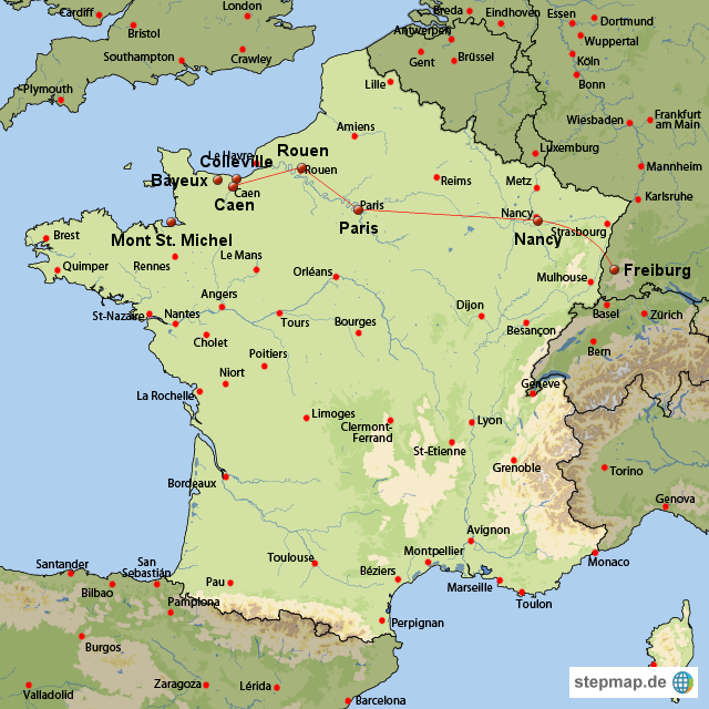 atlantikküste frankreich karte