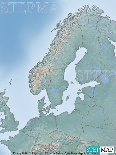 Landkarte: Norwegen