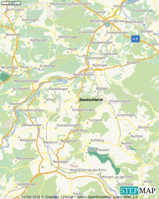 Stepmap Nurtingen Umgebung Landkarte Fur Deutschland