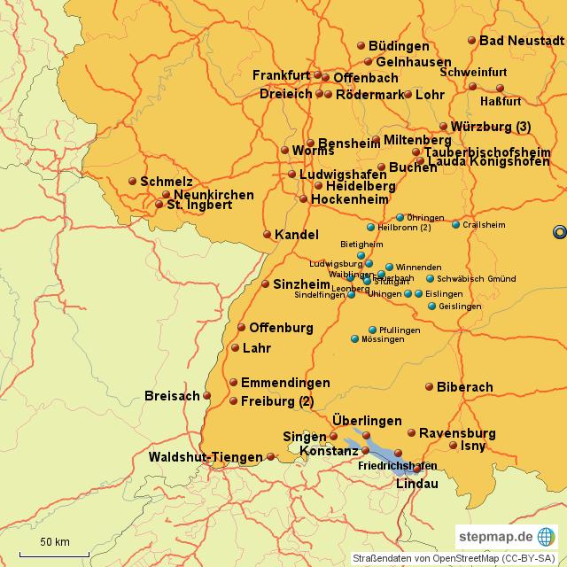 Obi Von Lazy Landkarte F R Westdeutschland