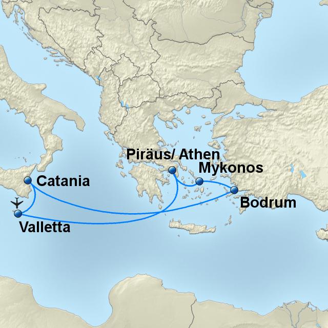 Bodrum Karte.Stepmap östliches Mittelmeer Mit Bodrum Z0223ba Landkarte Für