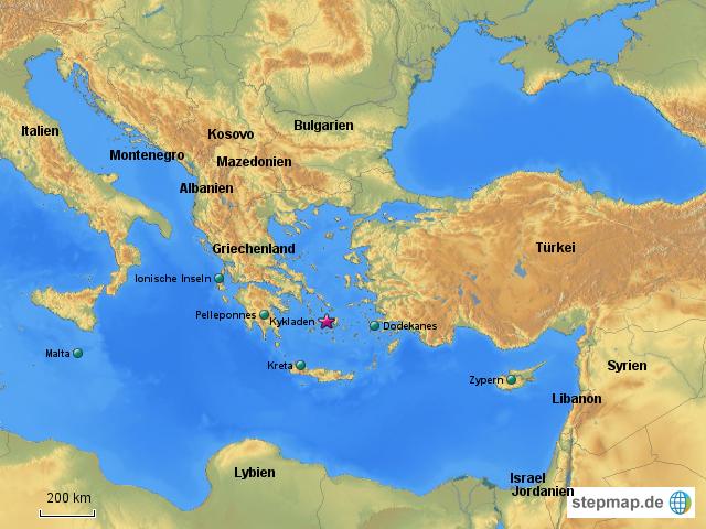 Mittelmeer Karte.östliches Mittelmeer Karte Karte