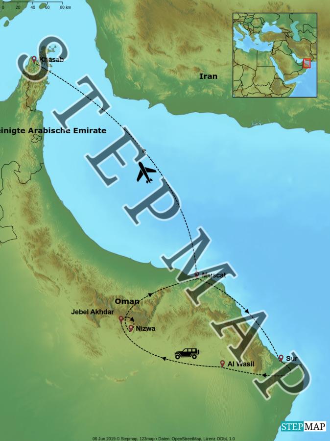 Landkarte: Oman