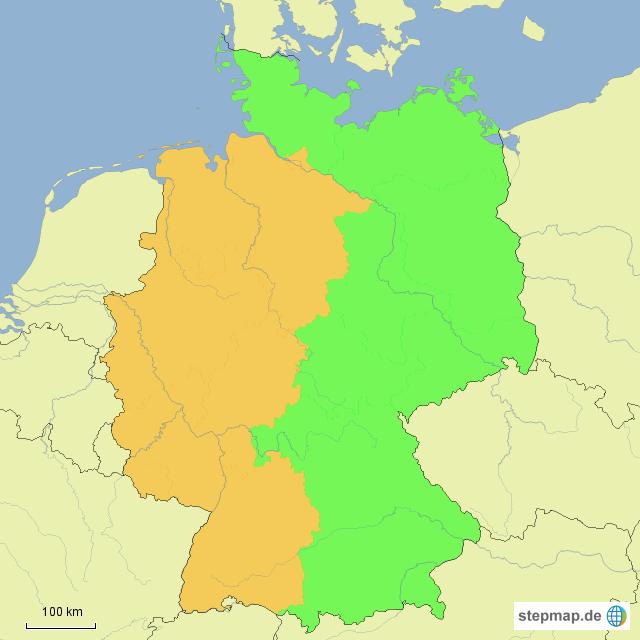 Ostdeutschland Westdeutschland