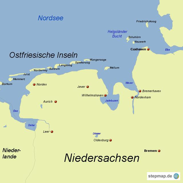 ostfriesische inseln karte Ostfriesische Inseln von SpiABenE04   Landkarte für Deutschland