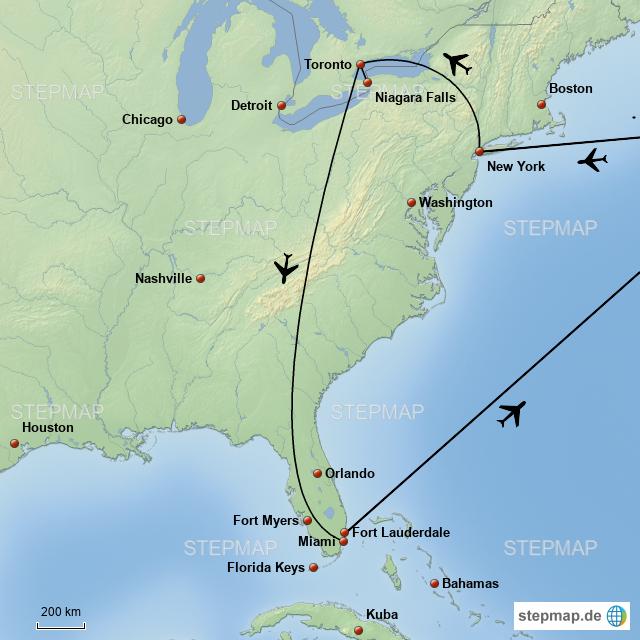 Karte Von Florida Westkuste.Ostkuste Florida Von Kellerly Landkarte Fur Nordamerika