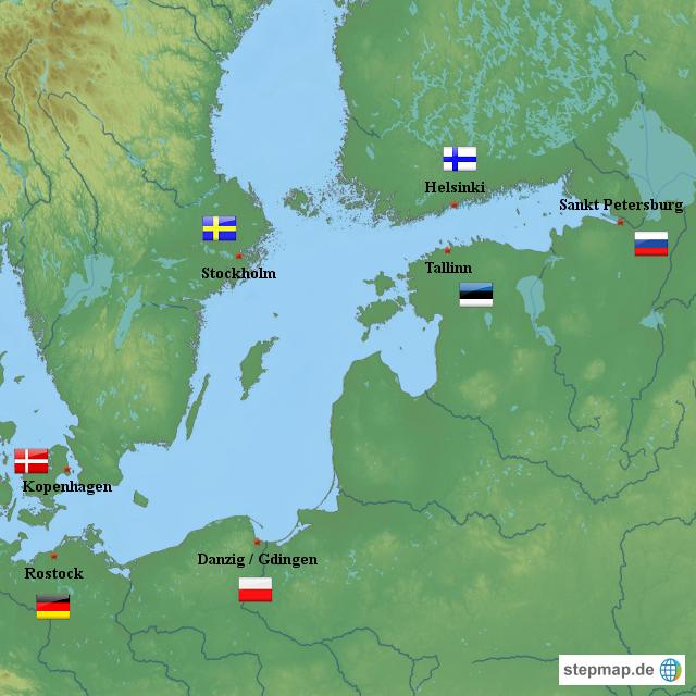 Ostsee Deutschland Karte.Ostsee Karte Europa Kleve Landkarte