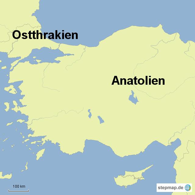 Anatolien Karte My Blog