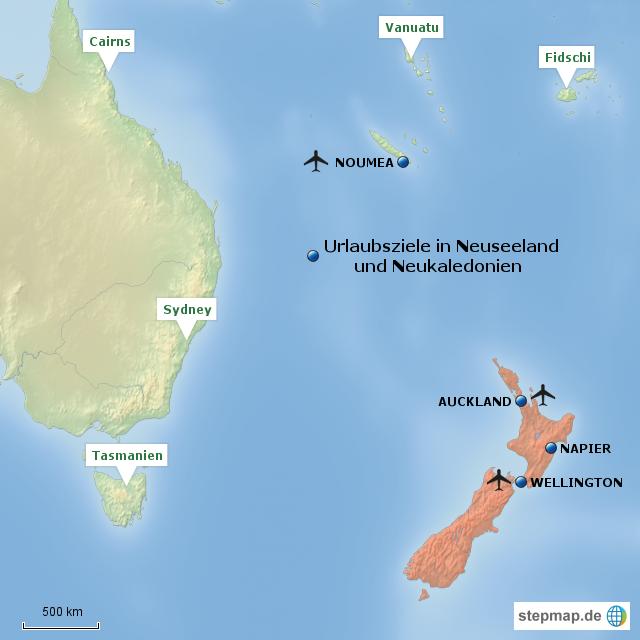 neukaledonien karte Ozeanien #2: Neuseeland, Neukaledonien von joe57   Landkarte für