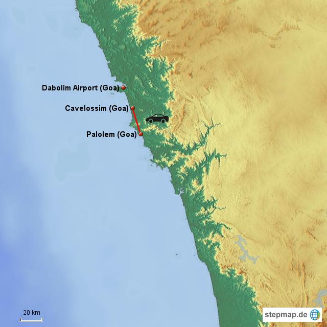 Palolem - Cavelossim von meilibe - Landkarte für Indien
