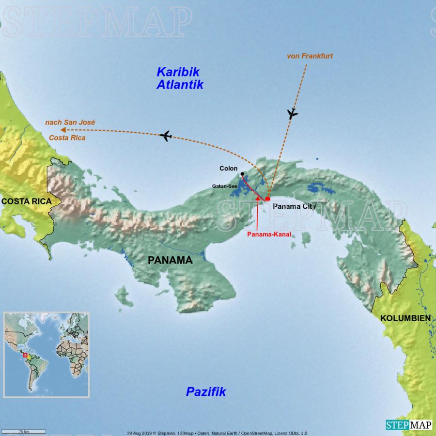 Landkarte: Panama
