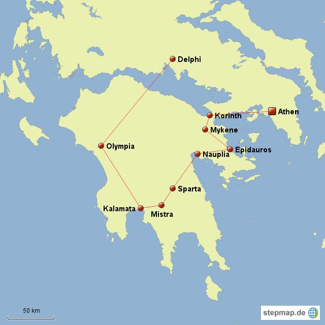 Peloponnes Karte.Peloponnes Von Kyra89 Landkarte Für Griechenland