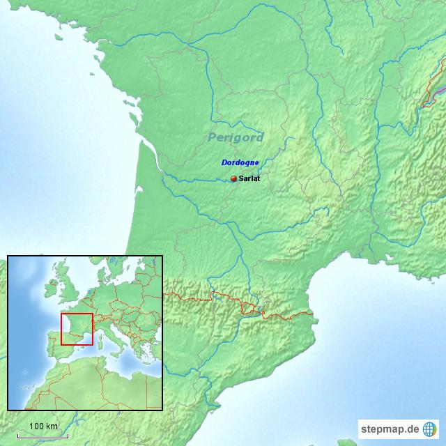 Perigord - Dordogne von aosverige - Landkarte für Frankreich