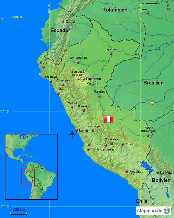 Peru 03 von Thomas-Peru-Map - Landkarte für Peru
