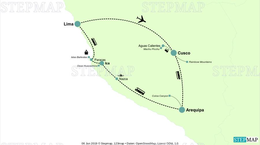 Landkarte: Peru 2019 - 2