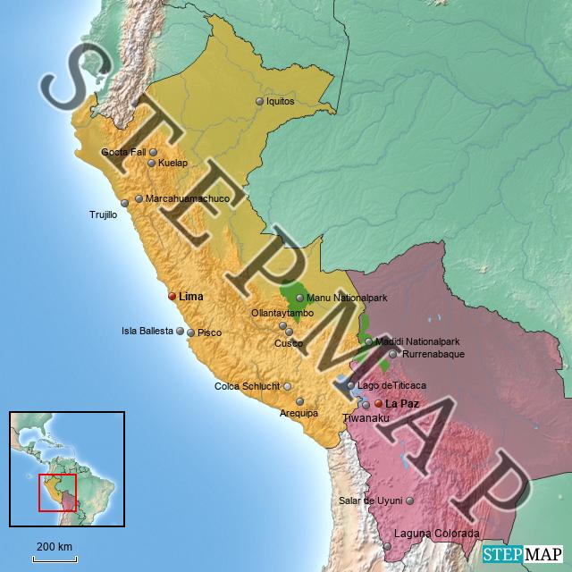 Peru/Bolivien von Tobi-ooo - Landkarte für Deutschland