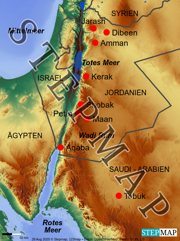 Landkarte: Petra