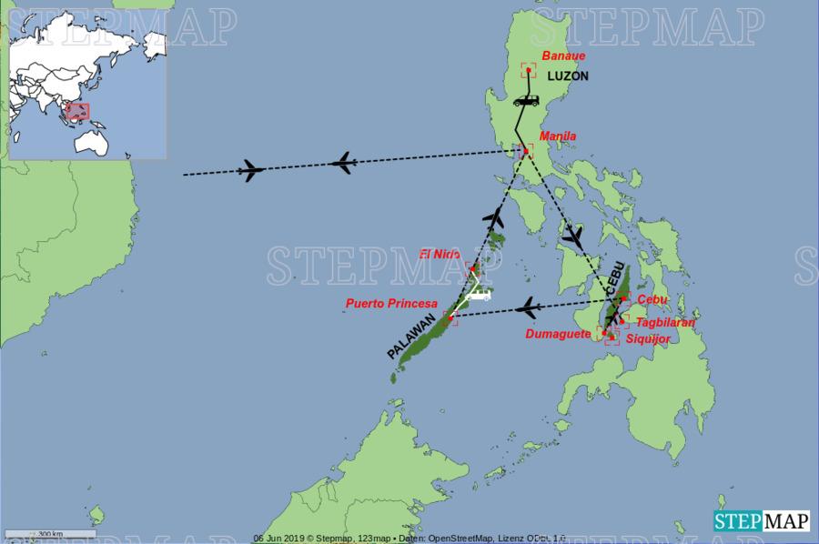 Landkarte: Philippinen