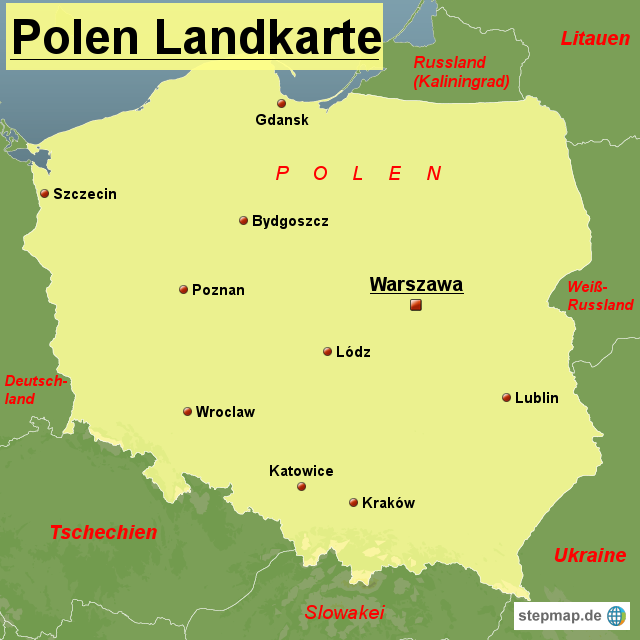 karte von polen Polen Landkarte von Landkarten   Landkarte für Polen