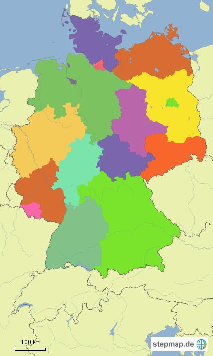politische karte deutschland von c2thef landkarte f r deutschland alle bundesl nder. Black Bedroom Furniture Sets. Home Design Ideas