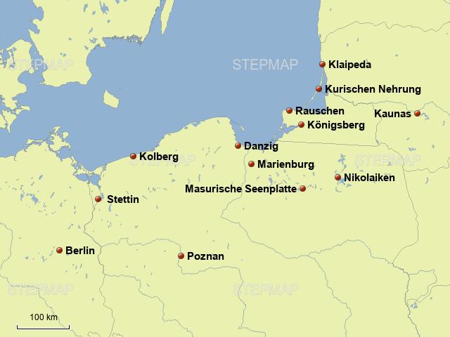 polnische ostsee karte StepMap   polnische Ostsee   Landkarte für Polen