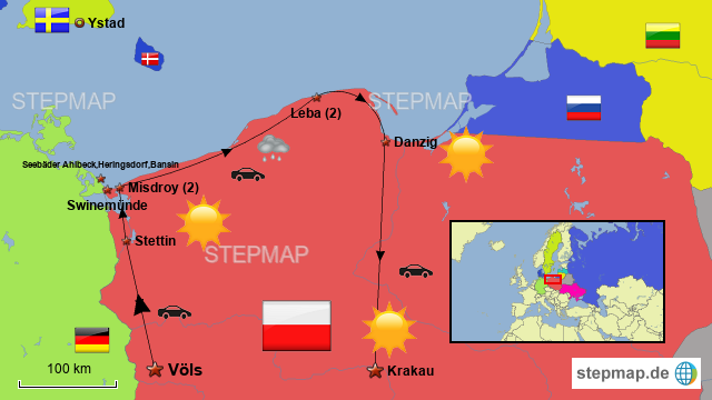 Karte Ostseeküste Polen.Polnische Ostseeküste Von Funthomas Landkarte Für Deutschland
