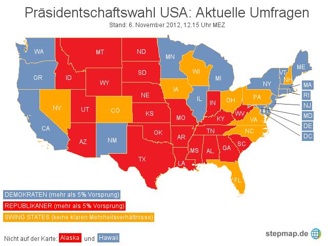 präsidentschaftswahl usa datum