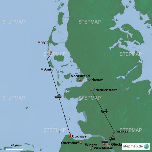 Karte Sylt Amrum.Radtour Sylt Amrum 2018 Von Emniem Landkarte Für Deutschland