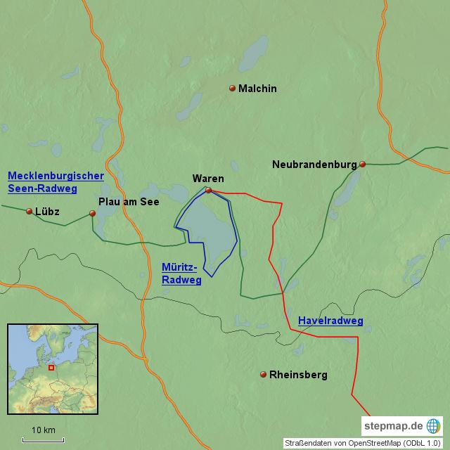 Radweg Mecklenburgische Seenplatte Karte.Radwege Mecklenburgische Seenplatte Von Daschke Landkarte Für