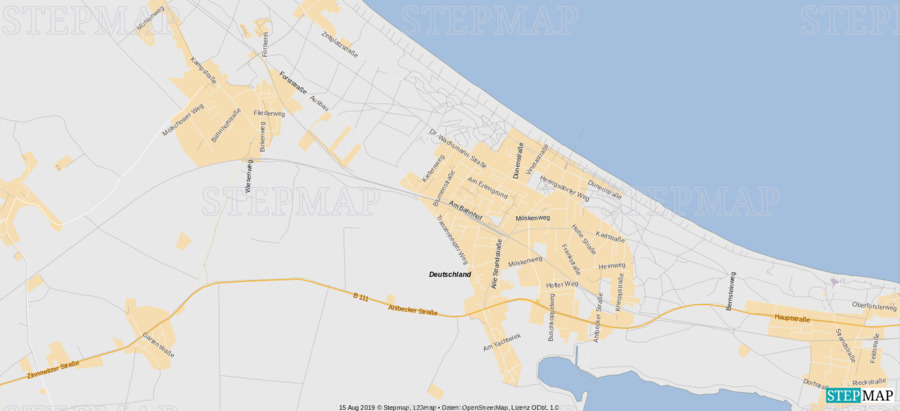 Landkarte: Reisebüro Standorte