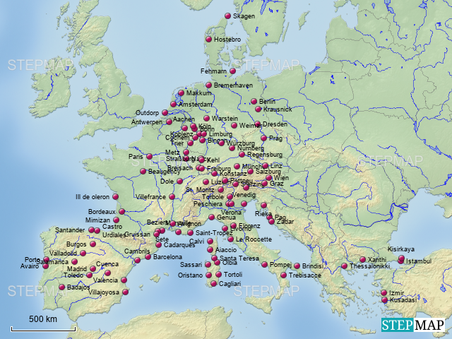 reiseziele europa von sunvoyager mobile freiheit landkarte f r deutschland. Black Bedroom Furniture Sets. Home Design Ideas