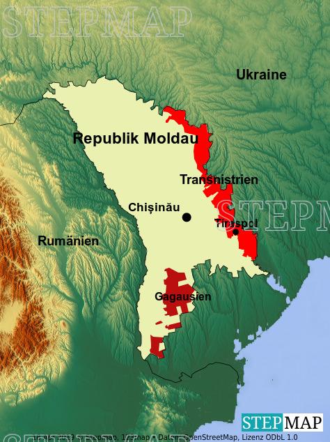 Landkarte: Republik Moldau