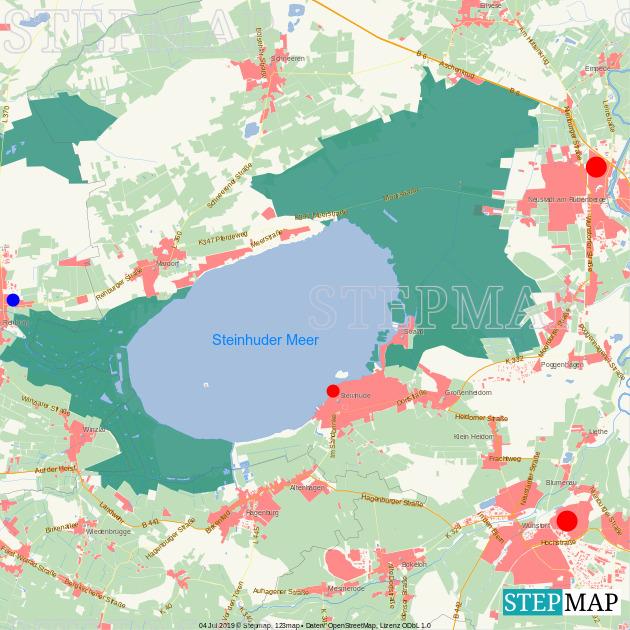 StepMap - Rettungswachen Steinhuder Meer - Landkarte für
