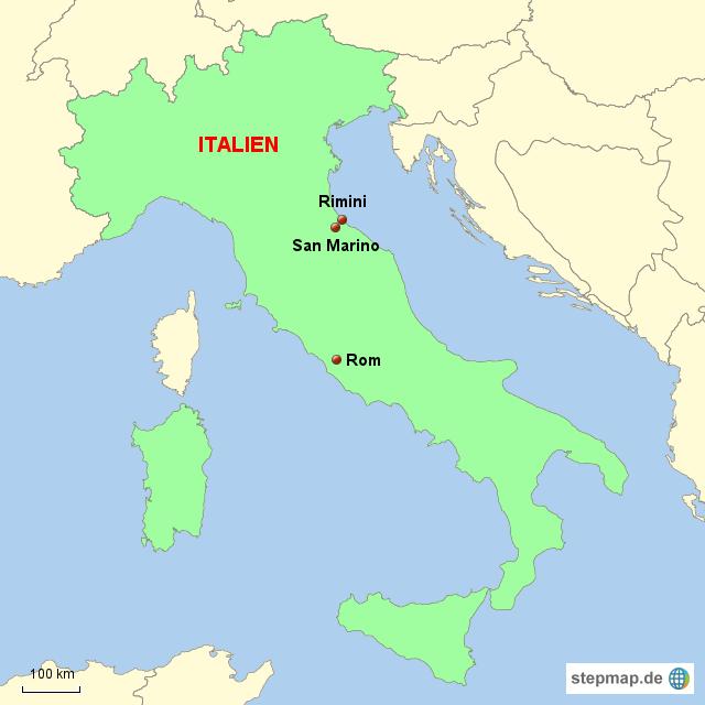 rimini italien karte Italien Karte Rimini   Kleve Landkarte rimini italien karte