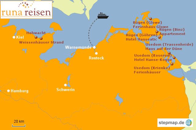 Rollstuhl Urlaub An Der Ostsee Von Runareisen Landkarte Fur